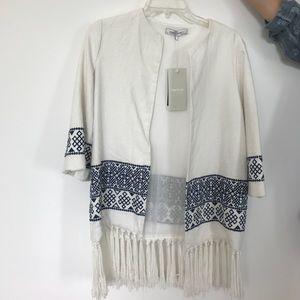 White Fringe Zara Jacket